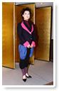 独創的な組み合わせの洋服-生徒洋裁作品